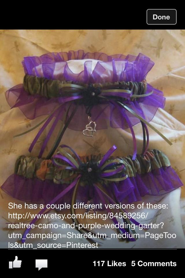 Purple camo garter