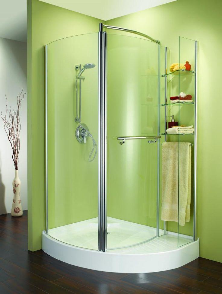 Decoration: Sliding Glass Door Ceramic Tiles White Curtain Bathroom Water  Spray Sprinkle Stainless Steel Handrail. Shower Ideas ...