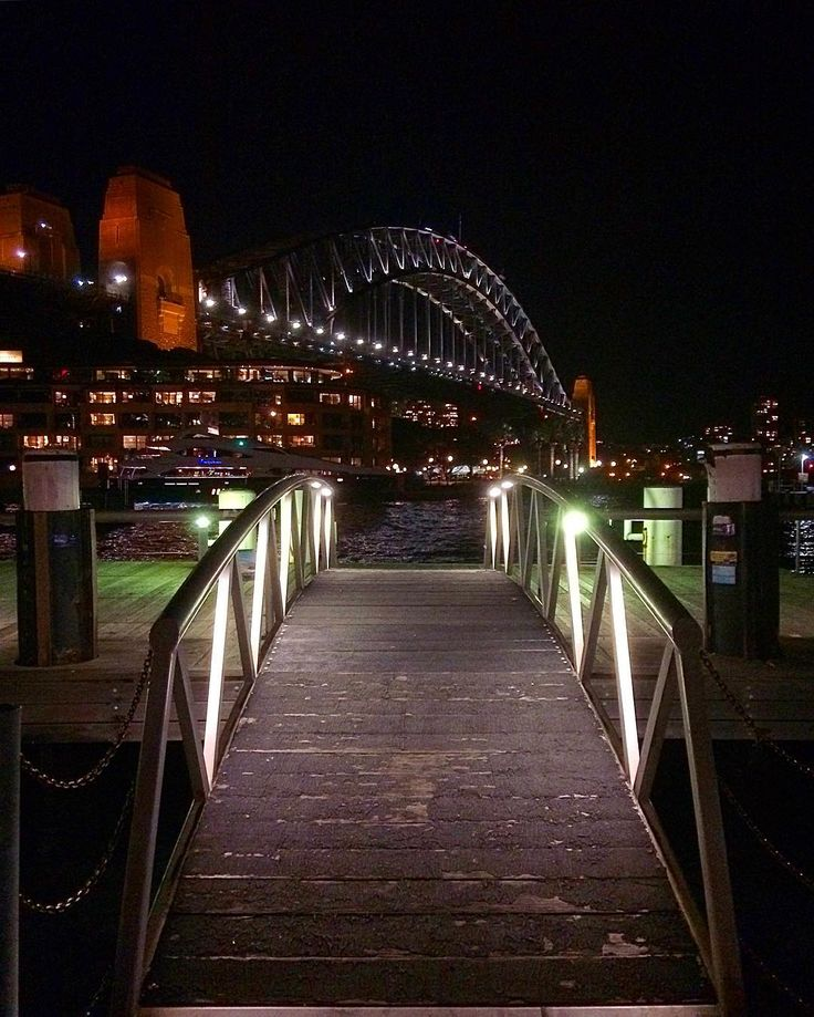 Great night shot of the Sydney Harbour Bridge taken from an unusual location :) #sydney #sydneyharbour #sydneyharbourbridge #harbourbridge #nsw #australia #night #iphone #iphoneonly #iphonephotography #instadaily #instagood #instagram #contrast #bridge #architecture #archilovers #green #red #lights #urban #modern #boardwalk #sea #harbour #citylights #citylife #follow4follow #like4like #inspiration by luca_de_angelis http://ift.tt/1NRMbNv