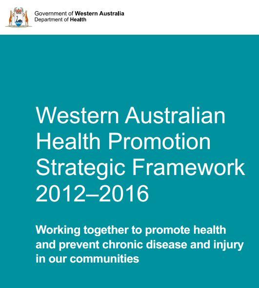 Health Promotion Strategic Framework