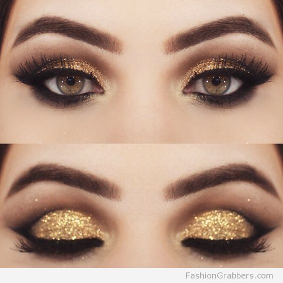 Christmas Party Makeup Ideas Part - 42: +30 Gorgeous Golden Holiday Makeup Ideas For New Years Eve Party