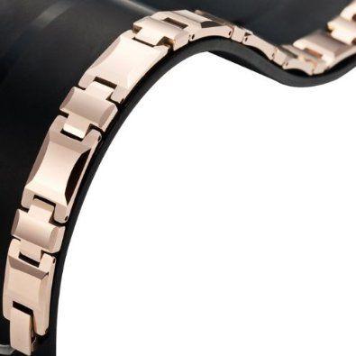 R&B Bijoux - Bracelet Homme Solide - Gourmette Liens 21cm Lourds - Carbure de Tungstène (Bronze). 48,90€ #bracelet #gourmette #carbure #tungstene #bronze #cadeau #fetedesperes