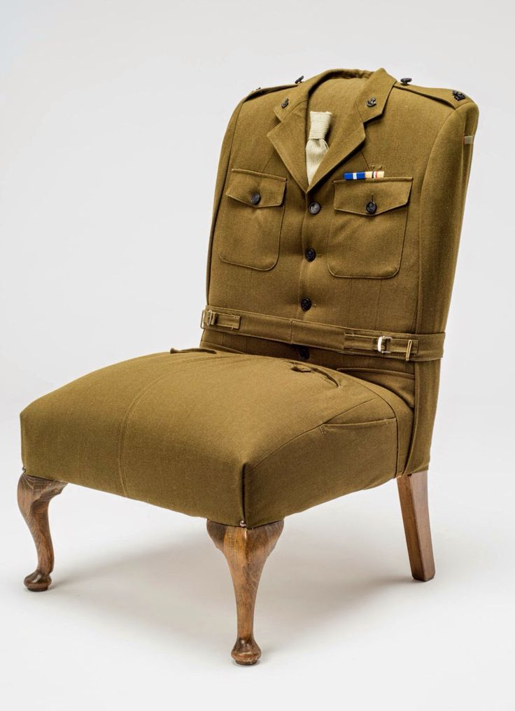 Perfect 10 British Army Uniform RescuedRetroVintage Upcycled Vintage Armchairs