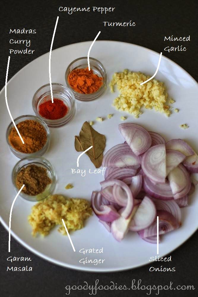 Spices etc for making an authentic Lamb Rogan Josh