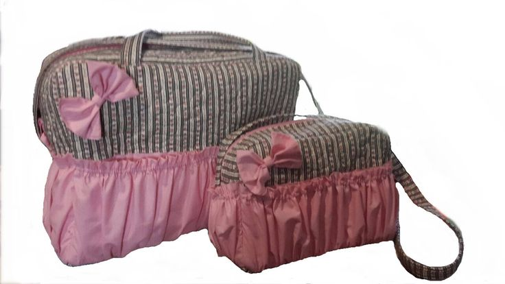 Pink Baby diaper bag set by gogothabo on Etsy