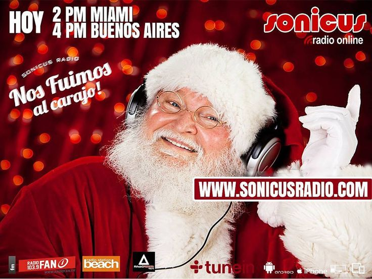 Ya llegamos!! en vivo!! Comienza la ultima semana del año con la radio!! www.sonicusradio.com #radio #online #music #musica #pop #hits #top  #followme #miami #latinos #hot #party #trendy #artistas #ranking #chart #show  #fashiongram #musicislife #ilovemusic #losangeles #newyork #celebrity  #dominicana #argentina  #tunein