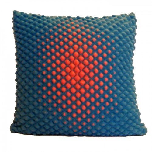 Starburst Knitted Cushion: Surface, Texture, Textile