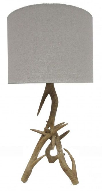Elk Table Lamp  With it's base inspired by the antlers of an elk, this table lamp is edgy and on-trend. It is impressively tall for a table lamp.  #elk #lamp #interiordesign #homewares #decor #MYHAH