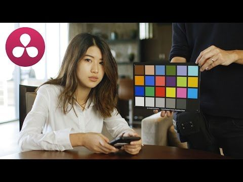 How to use a COLOR CHECKER CARD in RESOLVE - YouTube