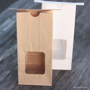 Image of Sachets à cookies couleur kraft ou blanc  avec fenêtre auto refermables - par 2