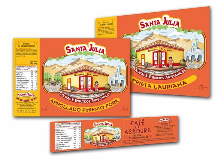 SBS Publicidad. Etiquetas adhesivas, distintos formatos, para cecinas envasadas.