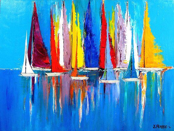 Concerto | Disfruta de tus espacios en 2019 | Peinture bateau, Tableau peinture acrylique et ...