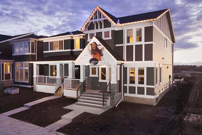 Wysteria showhome in the community of Redstone in northeast Calgary