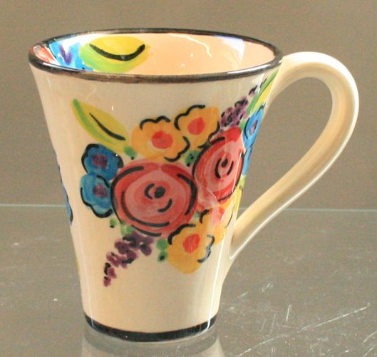 this is the new vintage floral design without gold lines or highlights - Pottery Design Ideas