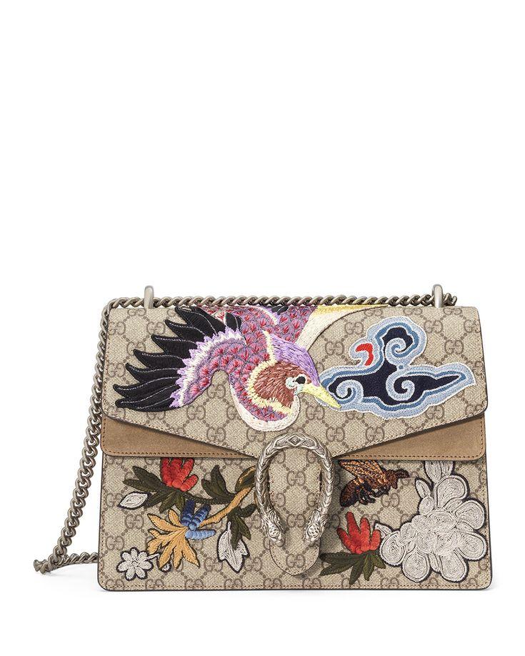 Gucci Dionysus Medium Bird Embroidered Shoulder Bag, Multi, Size: M