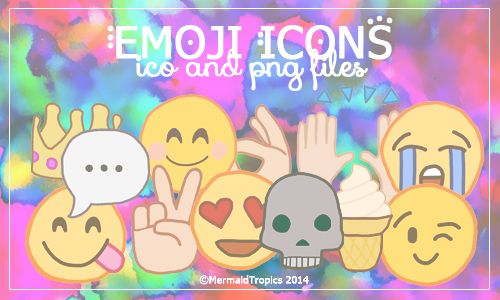 Emoji Icons .ico and .png by MermaidTropics.deviantart.com on @DeviantArt