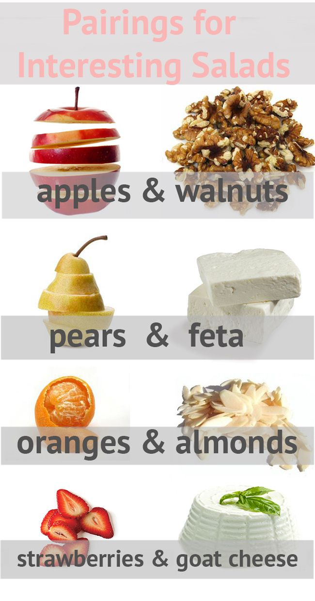 Pairings for Interesting Salads- for when salads get boring