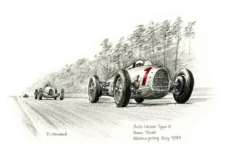 Art from the book: German Grand Prix – July 15th, 1934. Available as a limited edition.