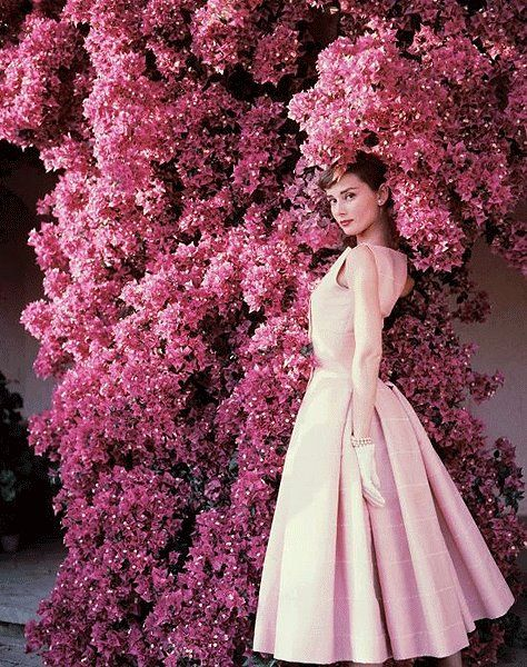 Audrey, 1955 - reposted from Couture Allure Vintage Fashion (Facebook)