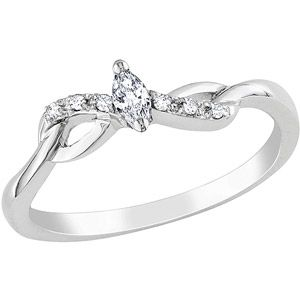 Miabella Marquise and Round-Cut Diamond-Accent 10kt White Gold Promise Ring  I have never seen anything so pretty