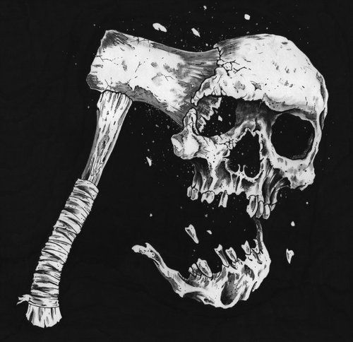 Black and White creepy skull morbid strange Macabre ...