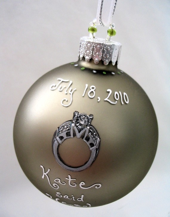custom engagement ornament with YOUR RING! a cool way to remember the date  of the proposal! | Wedding & engagement ideas for my girl, someday |  Pinterest ... - Custom Engagement Ornament With YOUR RING! A Cool Way To Remember