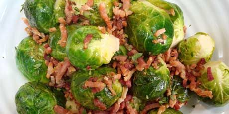 Bacon Brussels Sprouts, Chef Michael Smith. Food Network.