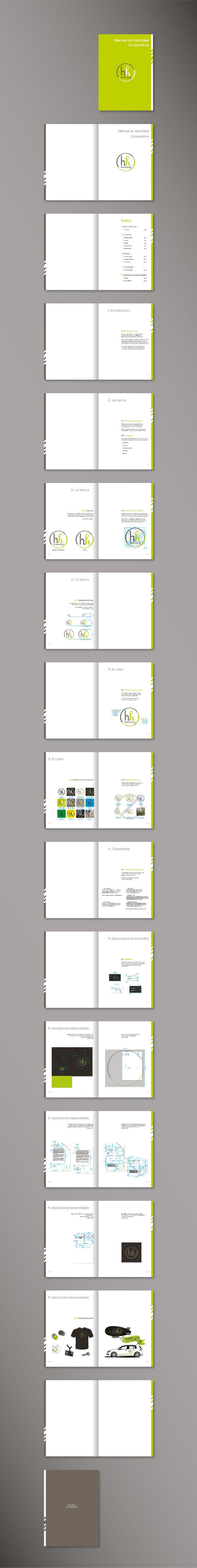 Identidad Corporativa HH Branding (desarrollo manual de identidad corporativa) - impreso en digital, cubierta plastificada mate 1C