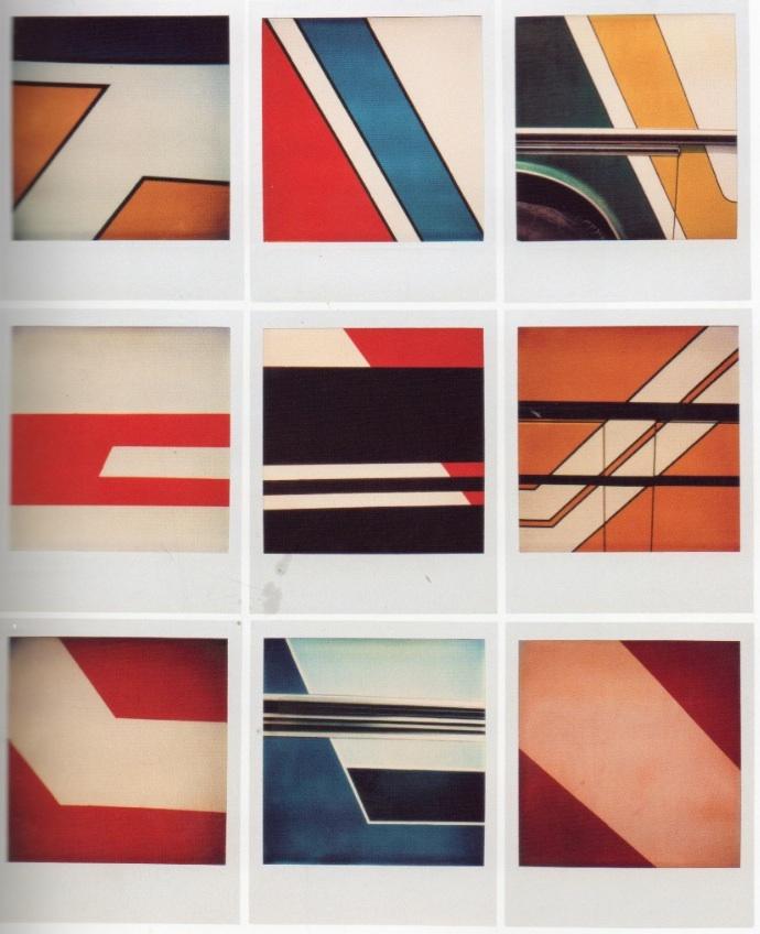 Bruno Bourel. Bourel, Bruno (9x Abstract) year unknown. SX-70 Time Zero Film