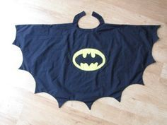 Awesome Batman cape to make!                                                                                                                                                                                 More