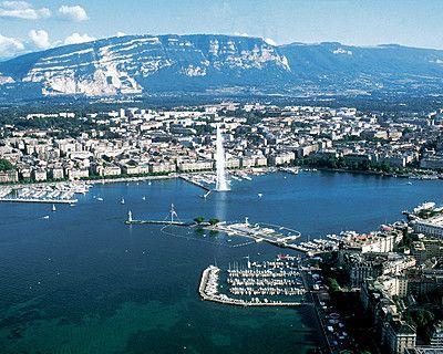 View of beautiful sights in Geneva, Switzerland