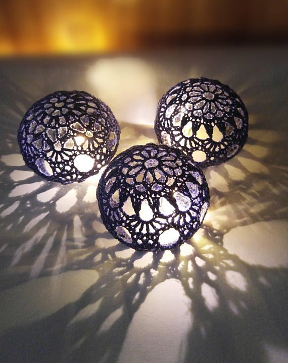 Wedding Table Centerpiece Crochet Table Decor Wedding LED