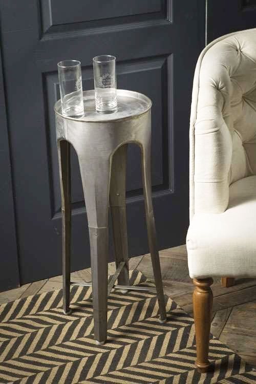 Mothology.com   Sheet Metal Small Round Side Table, $85.00 (http:/
