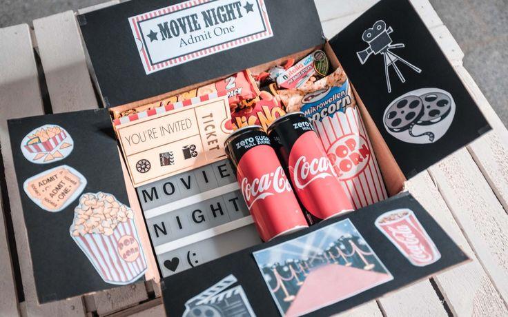 """DIY Geschenk """"Kino Box""""   Movie Night – Jani Isa"""