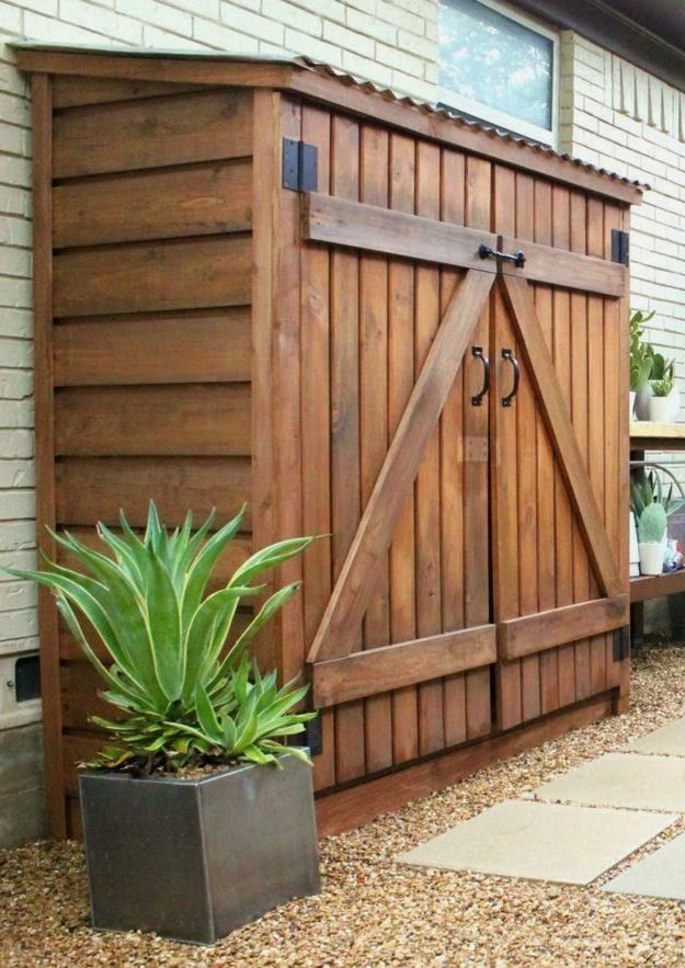 Organization options: Detached tool shed for garden tools #diystorageshedplans