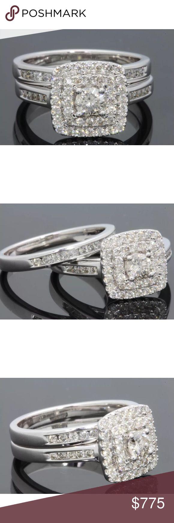 Beautiful 1.20 carat 14k diamond ring set Beautiful 1.20 carat 14k diamond ring set! Center diamond weighs 0.30 carats! Jewelry Rings