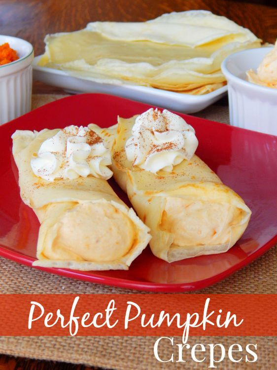 Tame your pumpkin spice craving with this fall recipe for Perfect Pumpkin Crepes! Your taste buds will thank you!