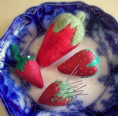 Strawberry Needle Felting Tutorial