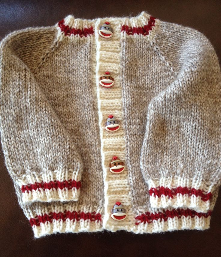Sock Monkey baby sweater
