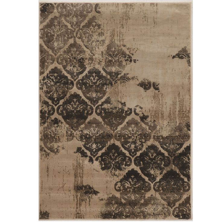 "Linon Power Loomed Jewel Collection Vintage B Clara Beige Polypropylene Rug (1'10"" X 2'10"") (Size), Size 2' x 3'"