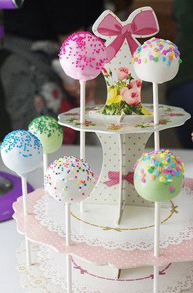 ☆簡単かわいい ケーキポップの作り方☆ カラフルかわいい♡ケーキポップス