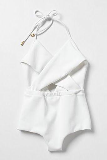 Structured white one-piece #swim