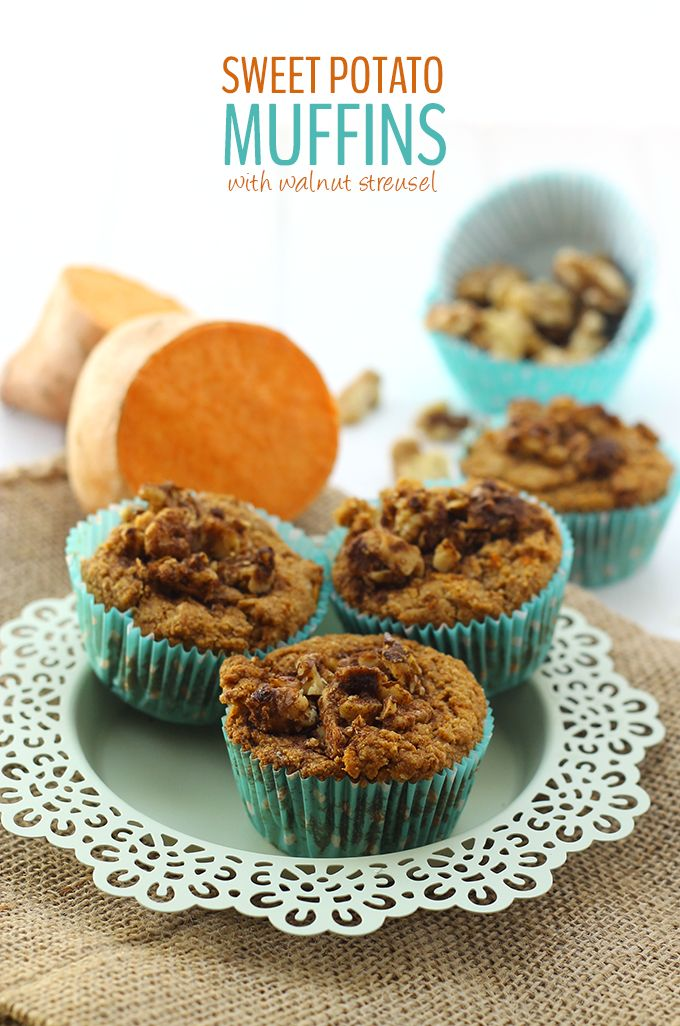 Sweet potato muffins, Muffins and Potatoes on Pinterest