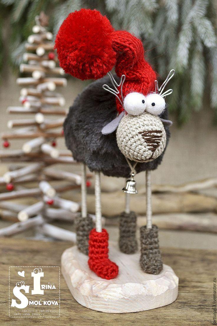 Купить ОЛЕНЬ новогодний - ярко-красный, Новый Год, олень, олени, олень игрушка