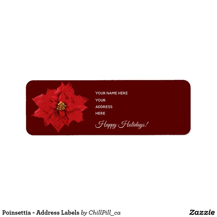 Poinsettia - Address Labels