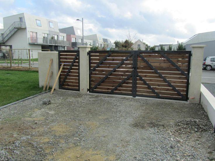 Les 25 meilleures id es concernant portail bois sur for Barriere en bois exterieur