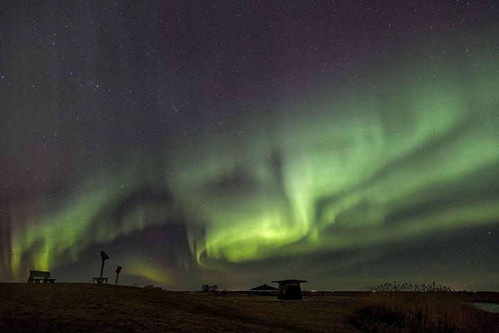 Northern Lights Aurora Borealis Oak Hammock Marsh Manitoba