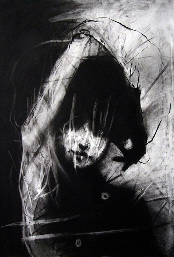 An Artist that uses charcoal and does expressionism in people?