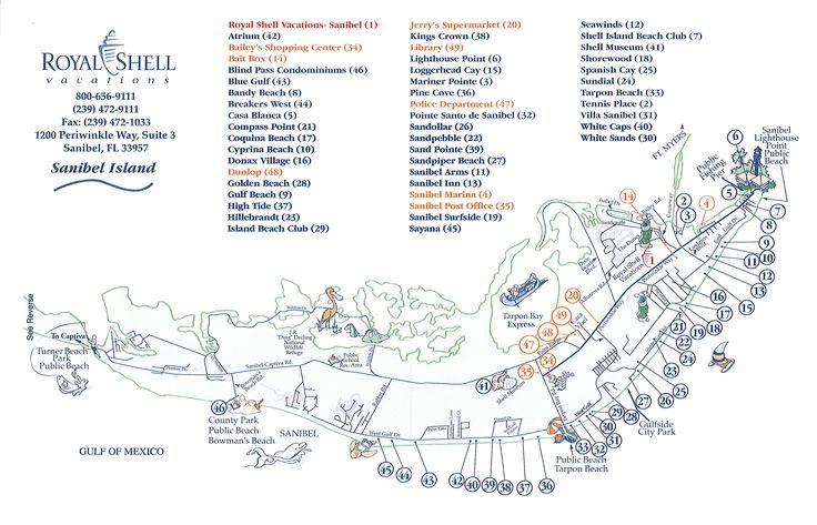 Sanibel Island Attractions Map