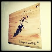 Be who you are meant to be Pallet Art. 50cmx50cm or 1mx1m